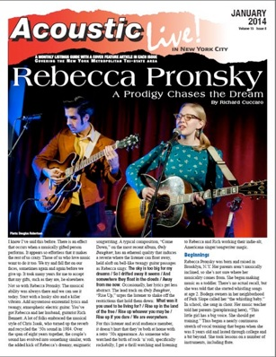 Rebecca Pronsky A Prodigy Chases The Dream By Richard