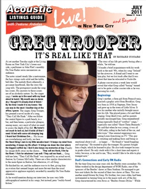 Greg Trooper It S Real Like That By Richard Cuccaro At Yet