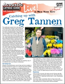 Catching Up With Greg Tannen By Richard Cuccaro This Month