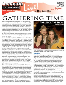 gathering time    show  richard cuccaro    evening  early november